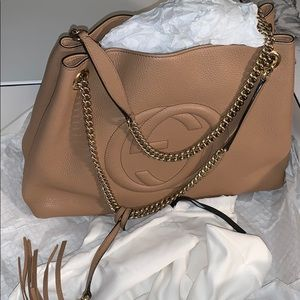 Gucci Soho Medium Shoulder Bag - Beige